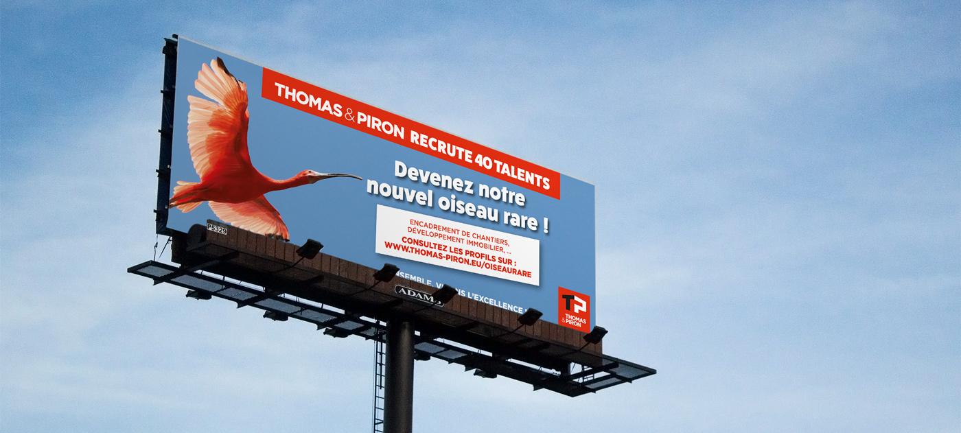 Thomas & Piron - Campagne RH oiseau-rare - Panneau
